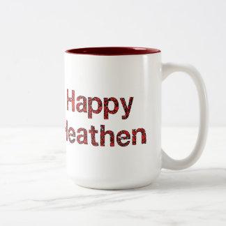Happy Heathen Two-Tone Coffee Mug
