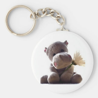 Happy Hippo Key Ring