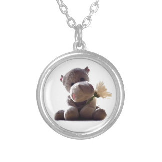 Happy Hippo Silver Plated Necklace