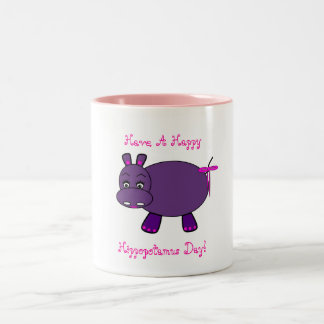 Happy Hippo Two-Tone Coffee Mug