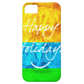 Happy Holiday Basic Round Keychain Case For The iPhone 5