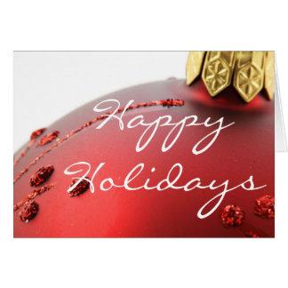 Happy Holiday Christmas Bulb Greeting Card
