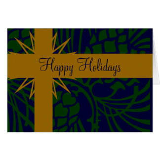 Happy Holiday Pinecone Present Card