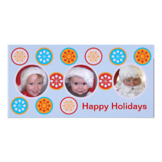 Happy Holiday wishes Photo Greeting Card