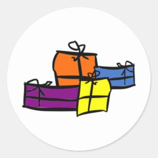 Happy Holidays 2012 Round Sticker