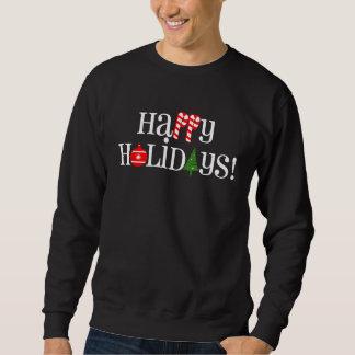 Happy Holidays Candy Canes Sweatshirt