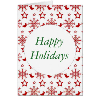 Happy Holidays card with envelopes