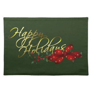 Happy Holidays Christmas Placemat