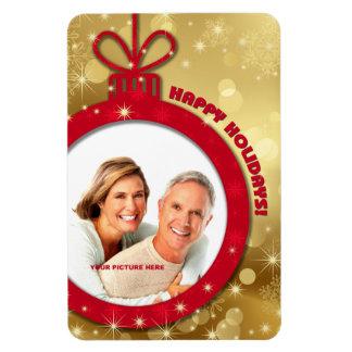 Happy Holidays. Customizable Photo Magnets