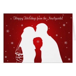 Happy Holidays from the Newlyweds! Card