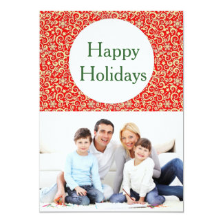 Happy Holidays Greetings with envelope Personalised Announcements