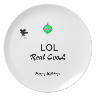 Happy Holidays LOL Real CooL Plate