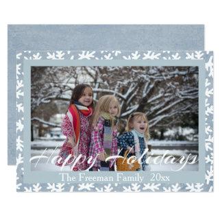 """Happy Holidays"" Modern Calligraphy Holiday Photo Card"