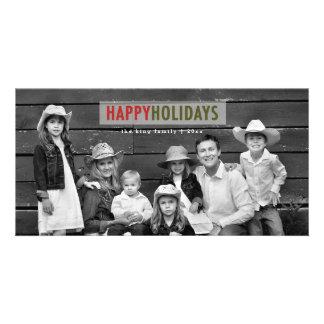 HAPPY HOLIDAYS | MODERN HOLIDAY PHOTO CARD