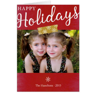 Happy Holidays photo modern note card