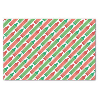Happy Holidays Red and Green Crayons Tissue Paper