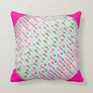 Happy Holidays Seasons Greetings Pillow