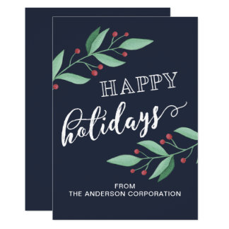 Happy Holidays Simple Business Holiday Greeting Card