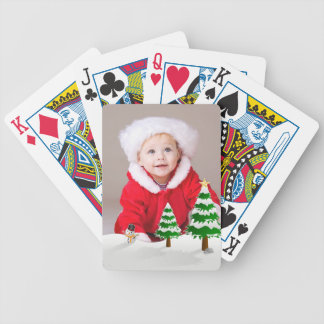 Happy Holidays Snow Photo Playing Cards