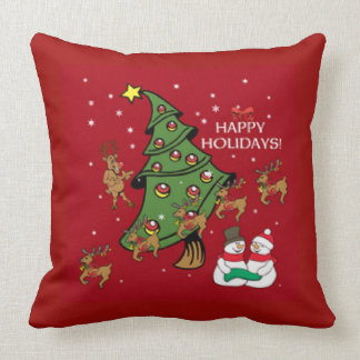Happy Holidays Throw Design Throw Pillow