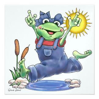Happy Hoppin Frog Invitation by SRF