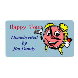 Happy Hour Beer Homebrewing Ale Lager Custom Label Shipping Label