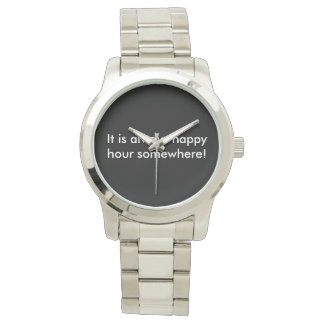 Happy Hour Watch: Silver Bracelet Style Watch