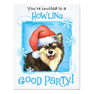 Happy Howliday Finnish Lapphund 4.25x5.5 Paper Invitation Card