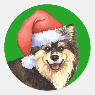 Happy Howliday Finnish Lapphund Sticker