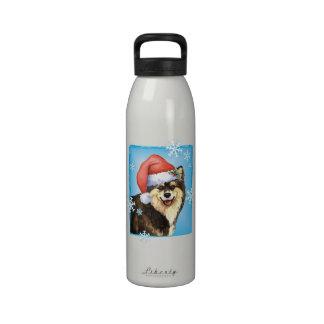 Happy Howliday Finnish Lapphund Drinking Bottle