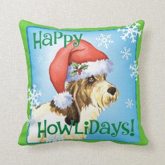 Happy Howliday PBGV Cushion