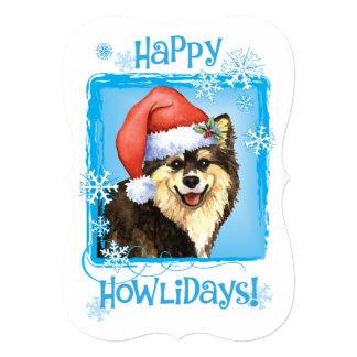 Happy Howlidays Finnish Lapphund 5x7 Paper Invitation Card