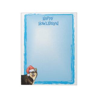 Happy Howlidays Finnish Lapphund Scratch Pads