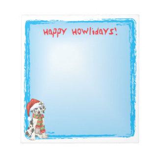 Happy Howlidays Great Dane Memo Pad