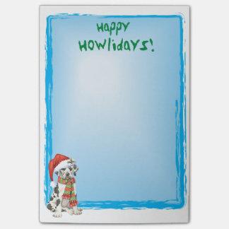 Happy Howlidays Great Dane Post-it® Notes