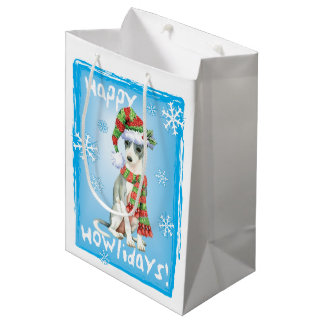 Happy Howlidays Italian Greyhound Medium Gift Bag