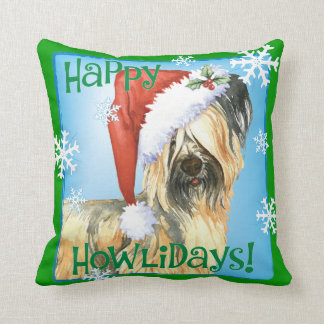 Happy Howlidays Skye Terrier Cushion