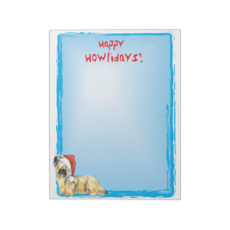 Happy Howlidays Skye Terrier Notepad