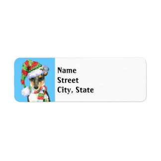 Happy Howlidays Smooth Collie Return Address Label