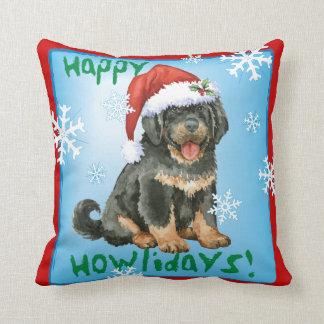 Happy Howlidays Tibetan Mastiff Cushion