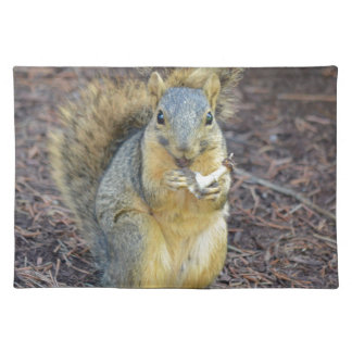 Happy Hungry Squirrel Placemat