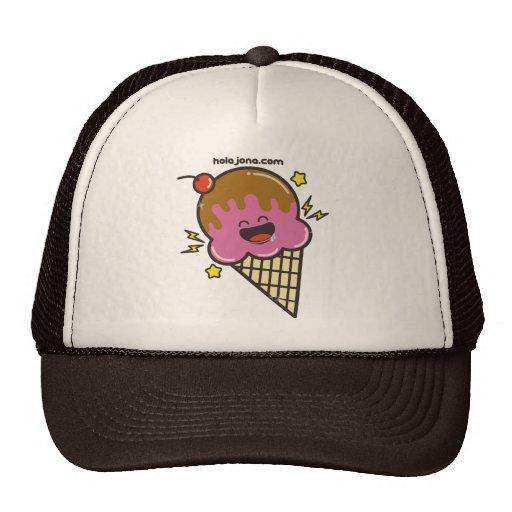 Happy Ice Cream Trucker Hats