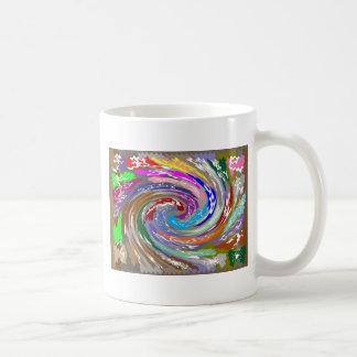 Happy Invisible COSMIC Waves Basic White Mug