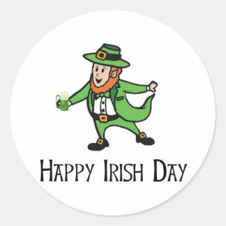 Happy Irish Day Classic Round Sticker