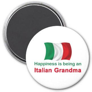 Happy Italian Grandma 7.5 Cm Round Magnet