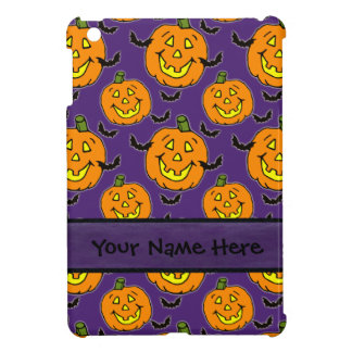 Happy Jack-o-lanterns and Bats iPad Mini Cover