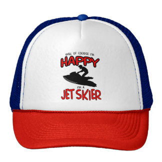 HAPPY JET SKIER (black) Cap