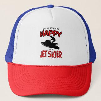 HAPPY JET SKIER (black) Trucker Hat
