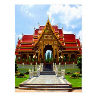happy  joy temple buddhism thai religion thailand postcard