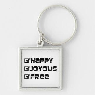 Happy Joyous Free Keychain